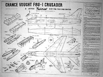 Photo of F8U Crusader plan