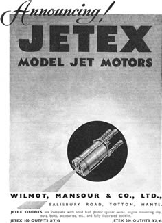 First advertisement for Jetex