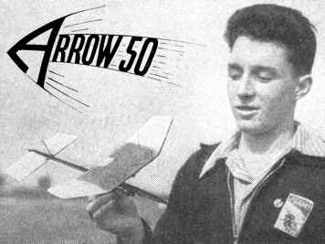 Arrow 50 and its designer, Ian Dowsett